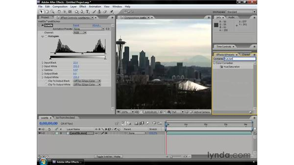 Color correcting with effects: After Effects CS3 Professional Essential Training