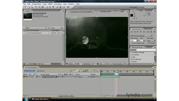 Time stretching: After Effects CS3 Professional Essential Training