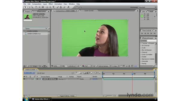 About keying footage: After Effects CS3 Professional Essential Training