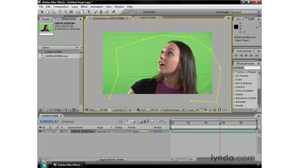 Creating a garbage matte: After Effects CS3 Professional Essential Training