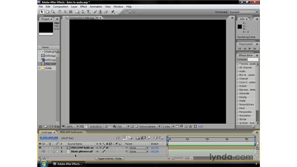 The importance of audio: After Effects CS3 Professional Essential Training