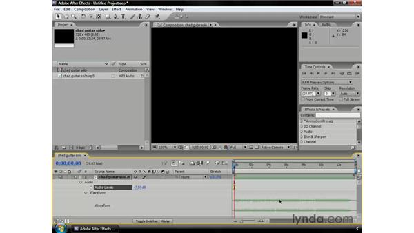 Using audio in After Effects: After Effects CS3 Professional Essential Training