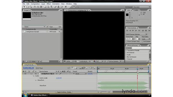 Creating audio markers: After Effects CS3 Professional Essential Training