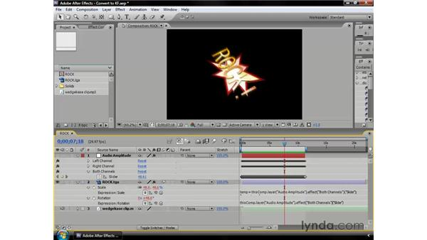 Converting audio to keyframes: After Effects CS3 Professional Essential Training