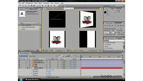 About coordinates, axes, and viewports: After Effects CS3 Professional Essential Training