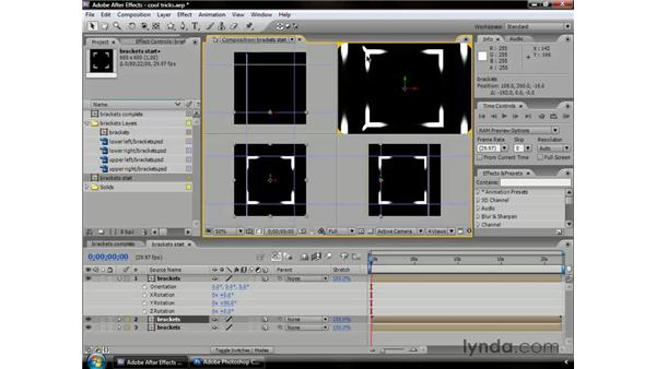 Cool tricks with Photoshop: After Effects CS3 Professional Essential Training