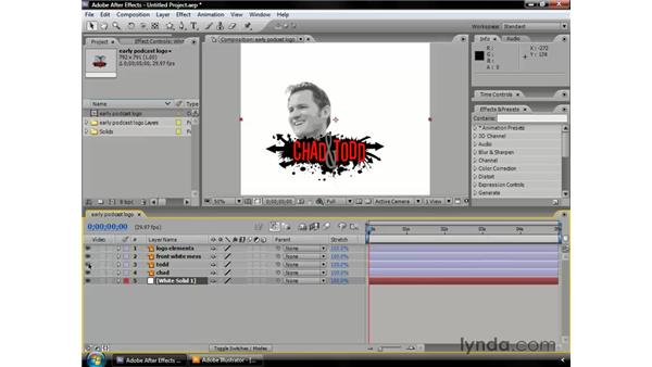 Importing and using Illustrator files: After Effects CS3 Professional Essential Training