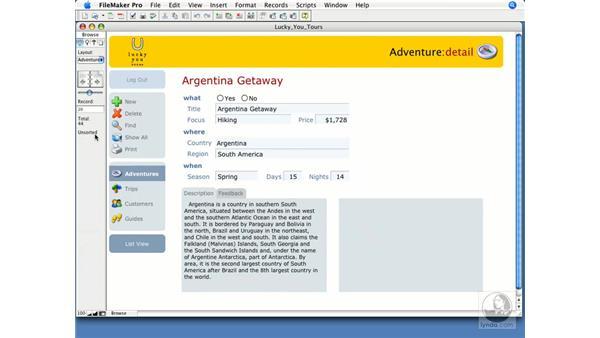 Interface tour: FileMaker Pro 9 Essential Training