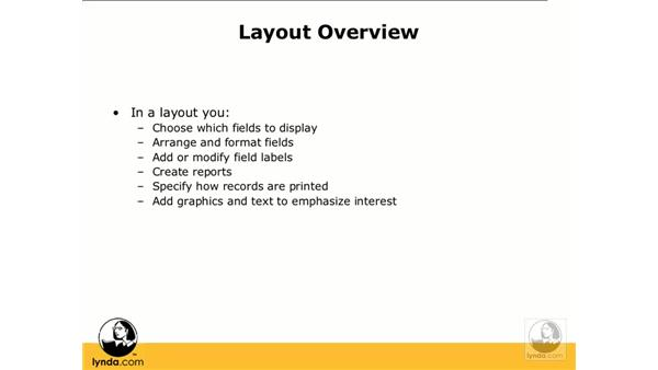 Layout overview: FileMaker Pro 9 Essential Training