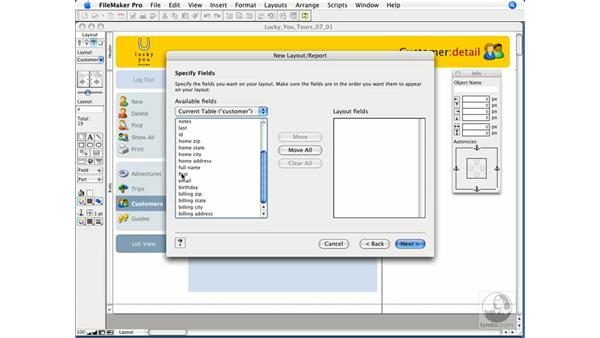 Creating a standard form: FileMaker Pro 9 Essential Training