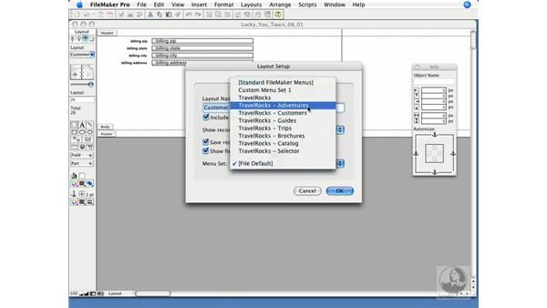 The Layout Setup dialog window: FileMaker Pro 9 Essential Training