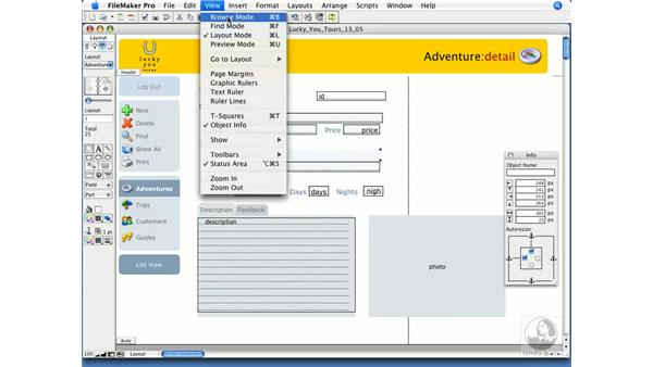 Field control setup: FileMaker Pro 9 Essential Training