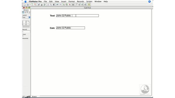 Text functions: FileMaker Pro 9 Essential Training