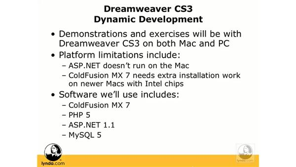Series overview: Dreamweaver CS3 Dynamic Development