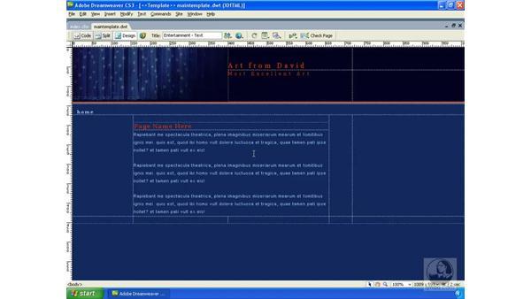 Creating the application template: Dreamweaver CS3 Dynamic Development
