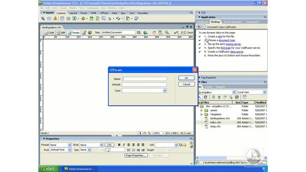 Using the Bindings panel: Dreamweaver CS3 Dynamic Development