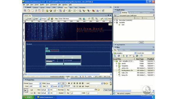 Generating a dynamic table : Dreamweaver CS3 Dynamic Development