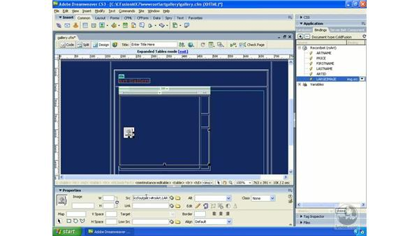 Using repeating regions: Dreamweaver CS3 Dynamic Development