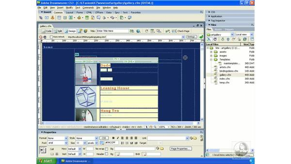 Using Server Debug and Live Data View: Dreamweaver CS3 Dynamic Development