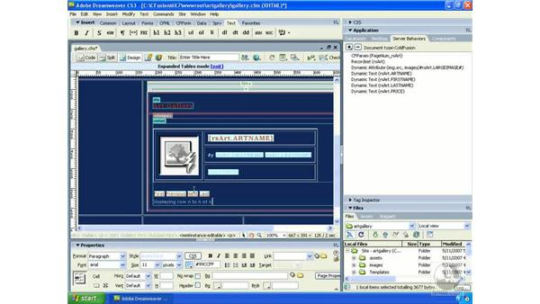 Showing which records are being displayed: Dreamweaver CS3 Dynamic Development