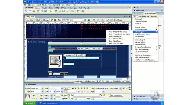 Creating conditional regions: Dreamweaver CS3 Dynamic Development