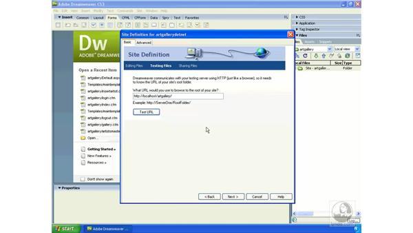 Creating a Dreamweaver site for ASP.NET: Dreamweaver CS3 Dynamic Development