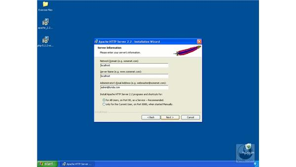 Installing the Apache HTTP server on Windows: Dreamweaver CS3 Dynamic Development