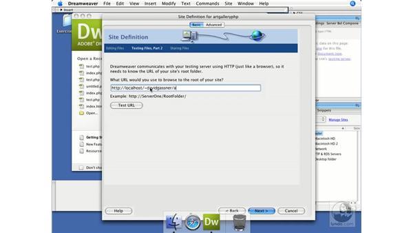 Creating a Dreamweaver site for PHP: Dreamweaver CS3 Dynamic Development