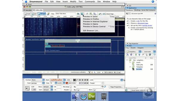 Creating a home page: Dreamweaver CS3 Dynamic Development