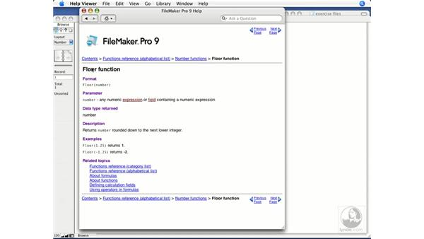 Reviewing number functions: FileMaker Pro 9 Beyond the Basics