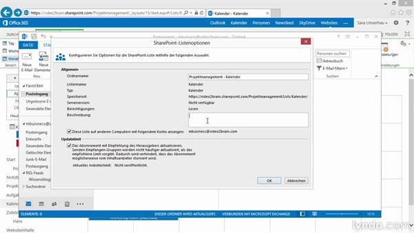 Das Duo SharePoint und Outlook-Kalender