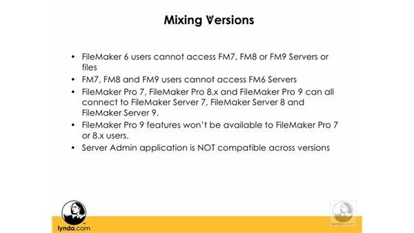 Mixing FileMaker 7, 8, and 9: FileMaker Pro 9 Beyond the Basics