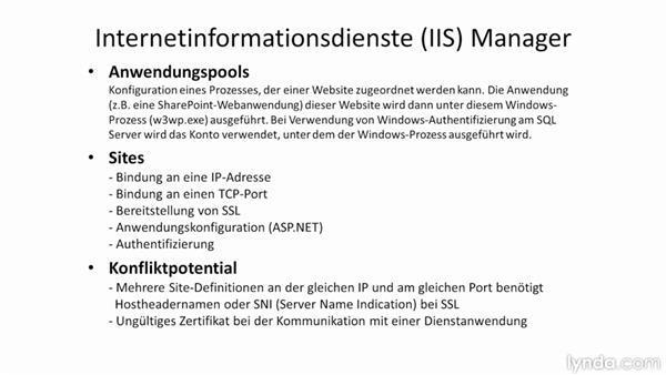 Exkurs: der IIS, ASP.NET und WCF