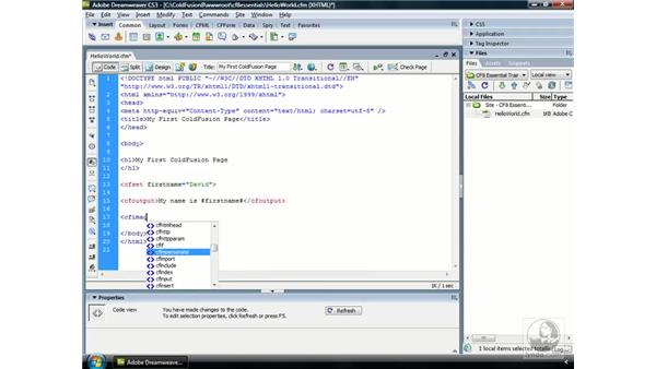 Installing ColdFusion 8 Extensions for Dreamweaver: ColdFusion 8 Essential Training