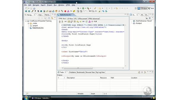 Installing the ColdFusion Extensions for Eclipse: ColdFusion 8 Essential Training