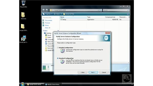 Installing MySQL on Windows: ColdFusion 8 Essential Training