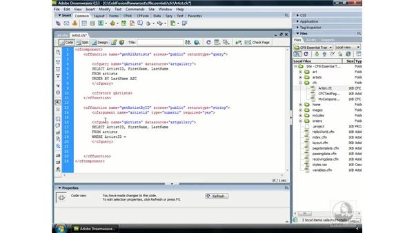 Executing dynamic SQL statements: ColdFusion 8 Essential Training