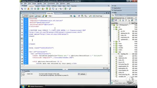 Controlling custom tag location with ‹cfmodule›: ColdFusion 8 Essential Training