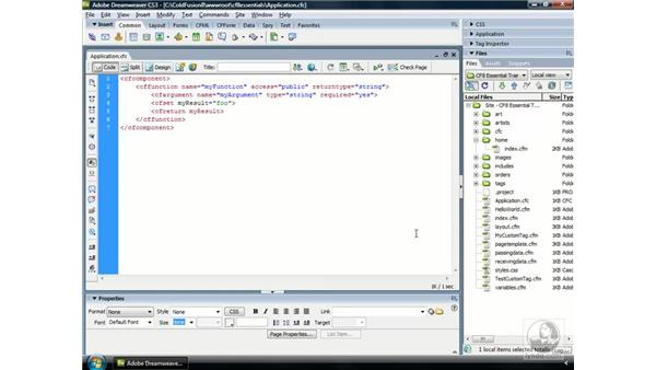 Creating an Application.cfc file: ColdFusion 8 Essential Training