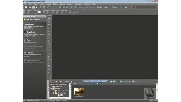 Using the Organizer to find and view photos: Getting Started with Corel Paint Shop Pro Photo X2