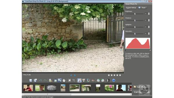 Using Express Lab to edit photos: Getting Started with Corel Paint Shop Pro Photo X2