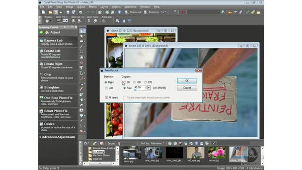 Rotating and flipping photos: Getting Started with Corel Paint Shop Pro Photo X2
