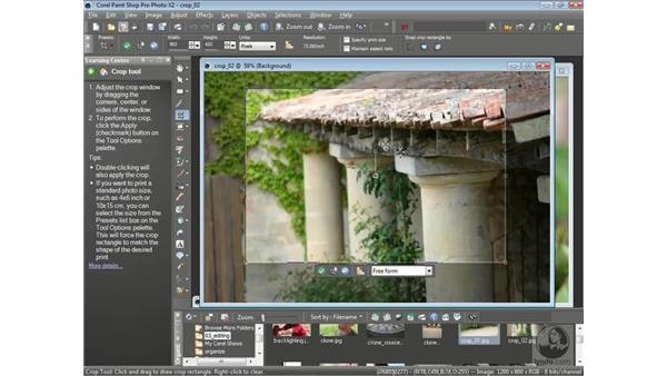 Cropping photos: Getting Started with Corel Paint Shop Pro Photo X2