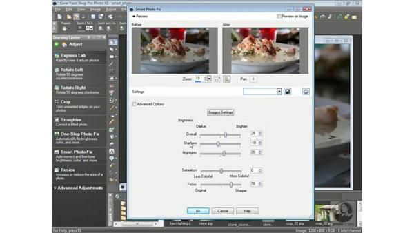 Using One Step Photo Fix and Smart Photo Fix: Getting Started with Corel Paint Shop Pro Photo X2
