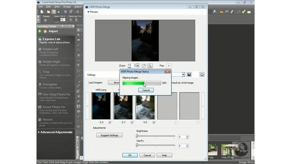 Correcting high-contrast scenes with HDR Photo Merge: Getting Started with Corel Paint Shop Pro Photo X2