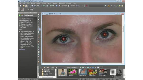 Fixing red-eye: Getting Started with Corel Paint Shop Pro Photo X2