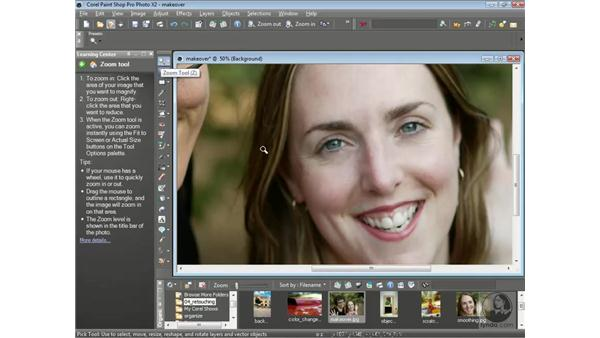 Using the makeover tools: Getting Started with Corel Paint Shop Pro Photo X2
