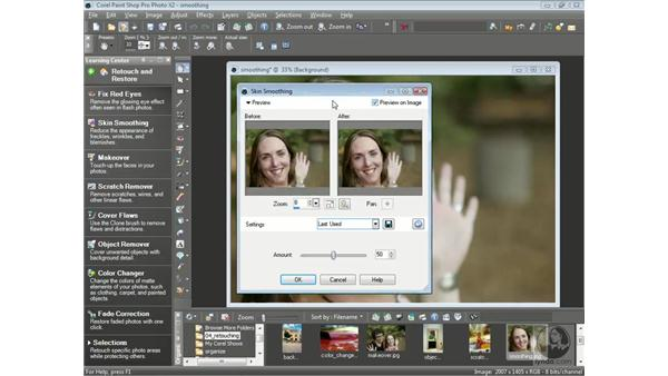 Smoothing out skin: Getting Started with Corel Paint Shop Pro Photo X2