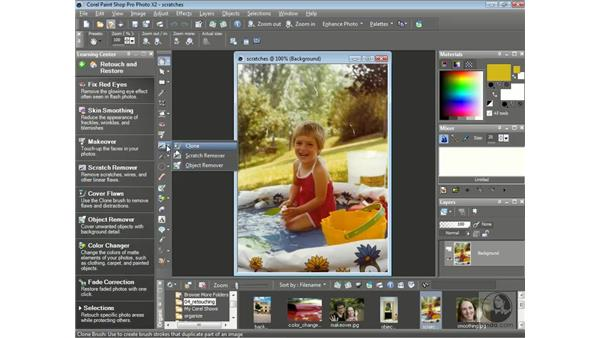 Removing scratches: Getting Started with Corel Paint Shop Pro Photo X2