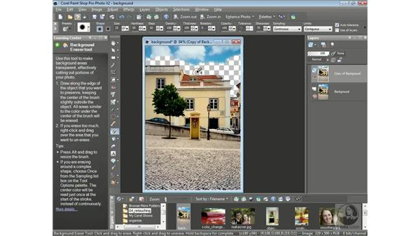 Erasing the background in a photo: Getting Started with Corel Paint Shop Pro Photo X2